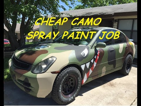 How To Spray Can Paint Camo.