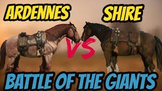 RDR 2 Ardennes VS Shire! Battle Of The Giants!