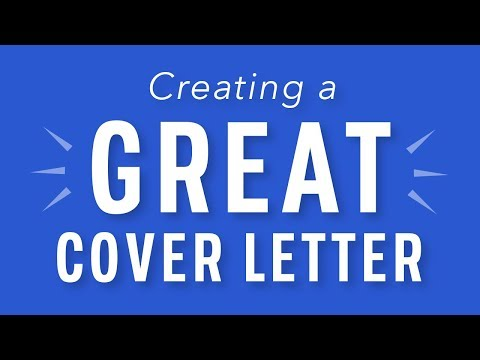 Tips for Creating a Great Cover Letter