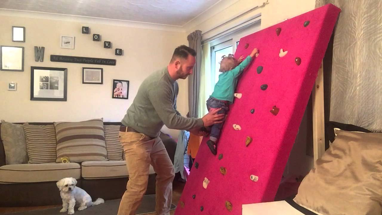 climbing wall baby 13months youtube. Black Bedroom Furniture Sets. Home Design Ideas