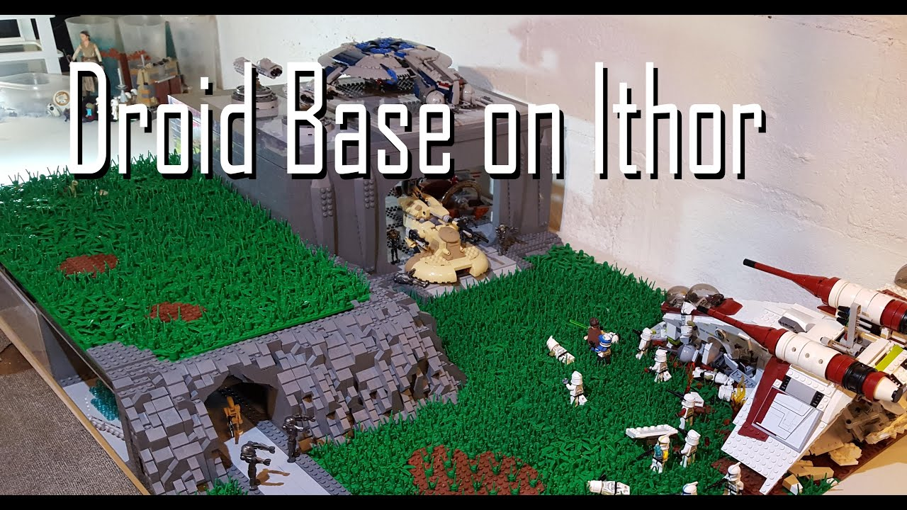 Huge lego star wars the clone wars droid base on ithor moc build youtube - Lego star wars base droide ...