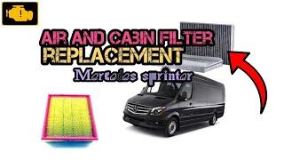 How to Replace Cabin and Air Filter Sprinter - Wymiana filtra pyłkowego oraz powietrza