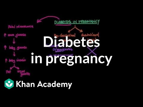 Diabetes in pregnancy | Reproductive system physiology | NCLEX-RN | Khan Academy