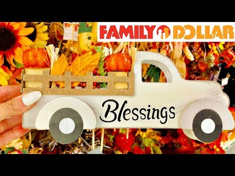 FAMILY DOLLAR SHOPPING!!! *NEW* $5 AND UNDER FALL DECOR + RUGS!!!🍁