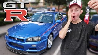 Surprising Tanner Fox with an R34 GTR