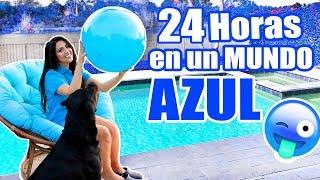 VIVIENDO EN UN MUNDO AZUL por 24 Horas 😅 TODO AZUL por Un Dia 💙 Reto Divertido! SandraCiresArt