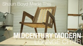 Watch me make a mid-century modern lounge chair real quick. More info: http://www.shaunboydmadethis.com...