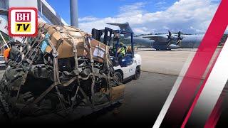 Penerbangan pertama bawa peralatan bina MTC tiba di Sabah