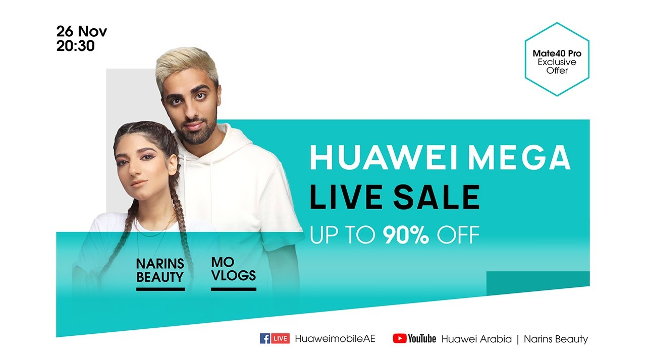 HUAWEI MEGA Live Sale with Mo Vlogs & Narins Beauty
