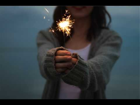 Woman Holding Sparkler - Free HD Stock Footage (No Copyright) ---- Cinemagraph
