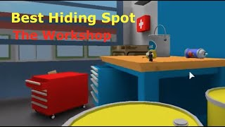 Roblox - BEST Hiding Spot in The WORKSHOP! (Hide and Seek Extreme)