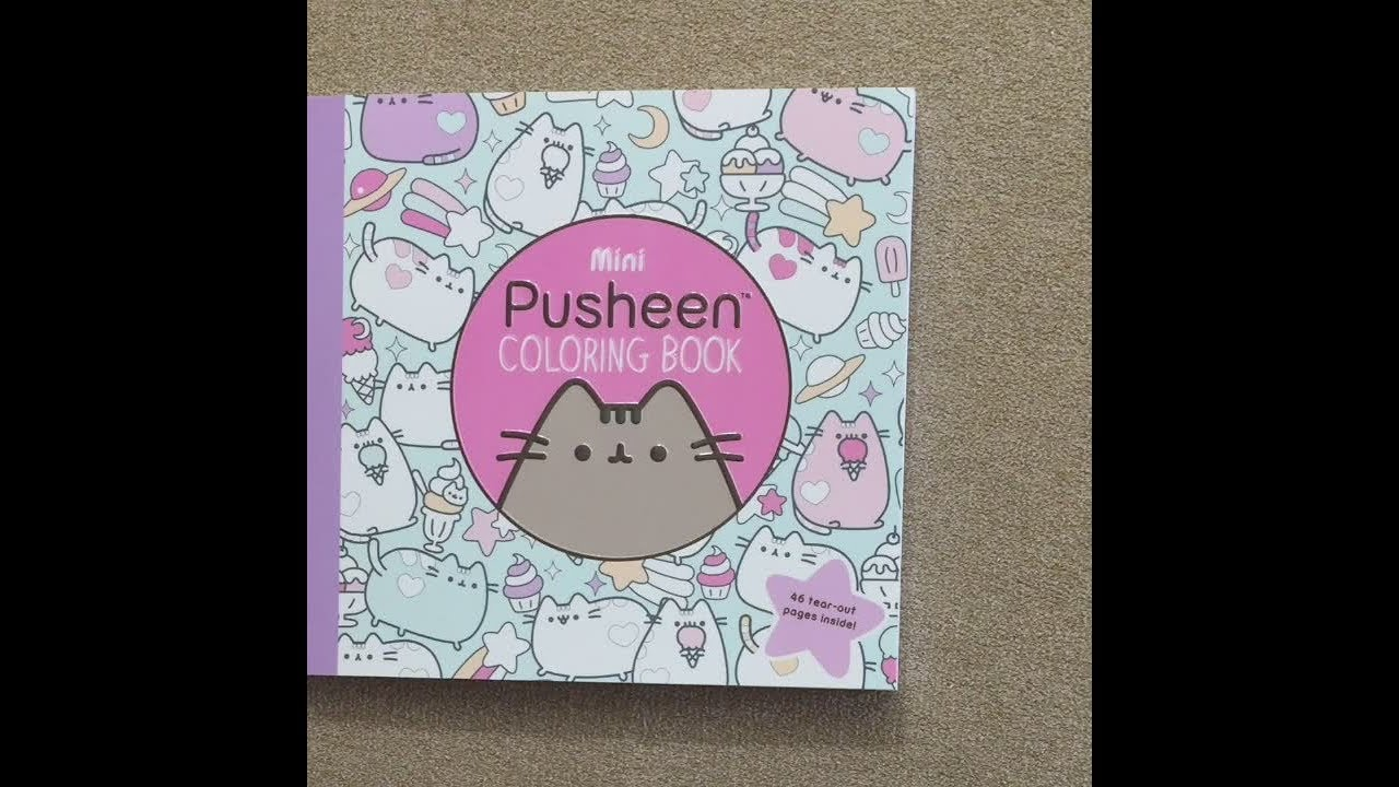 Mini Pusheen Coloring Book Flip Through Youtube