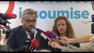 Conférence de presse de la France insoumise sur les ordonnances sur le code du travail