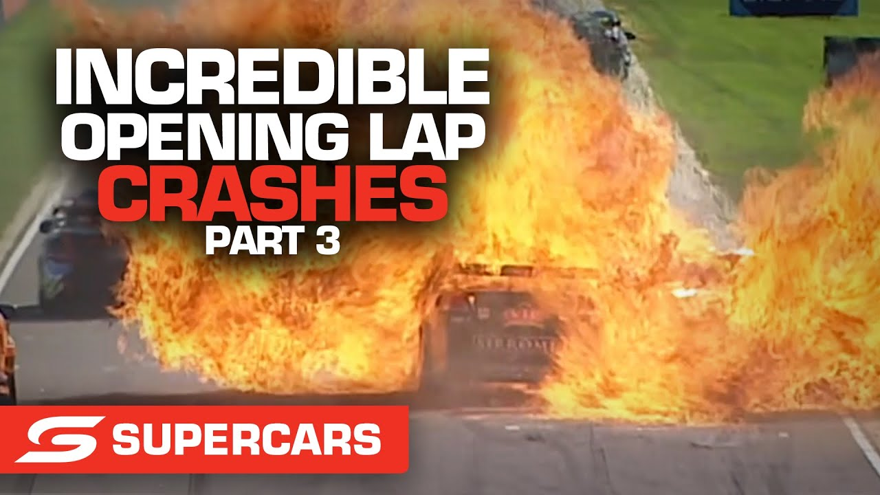 WILD first lap crashes: Part 3   Supercars 2021