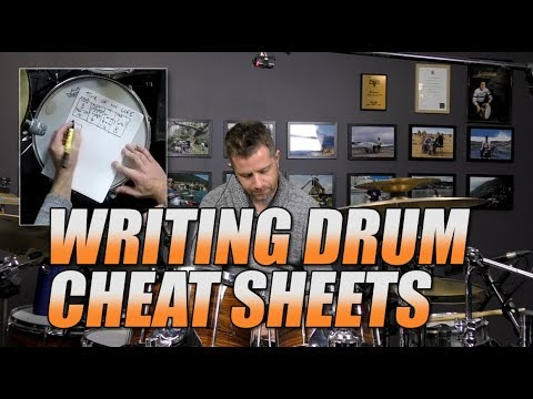 Drum Lessons - Writing Cheat Sheets For Charts