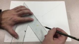 Art: Perspective Four Corners Technique Basic Drawing Tutorial