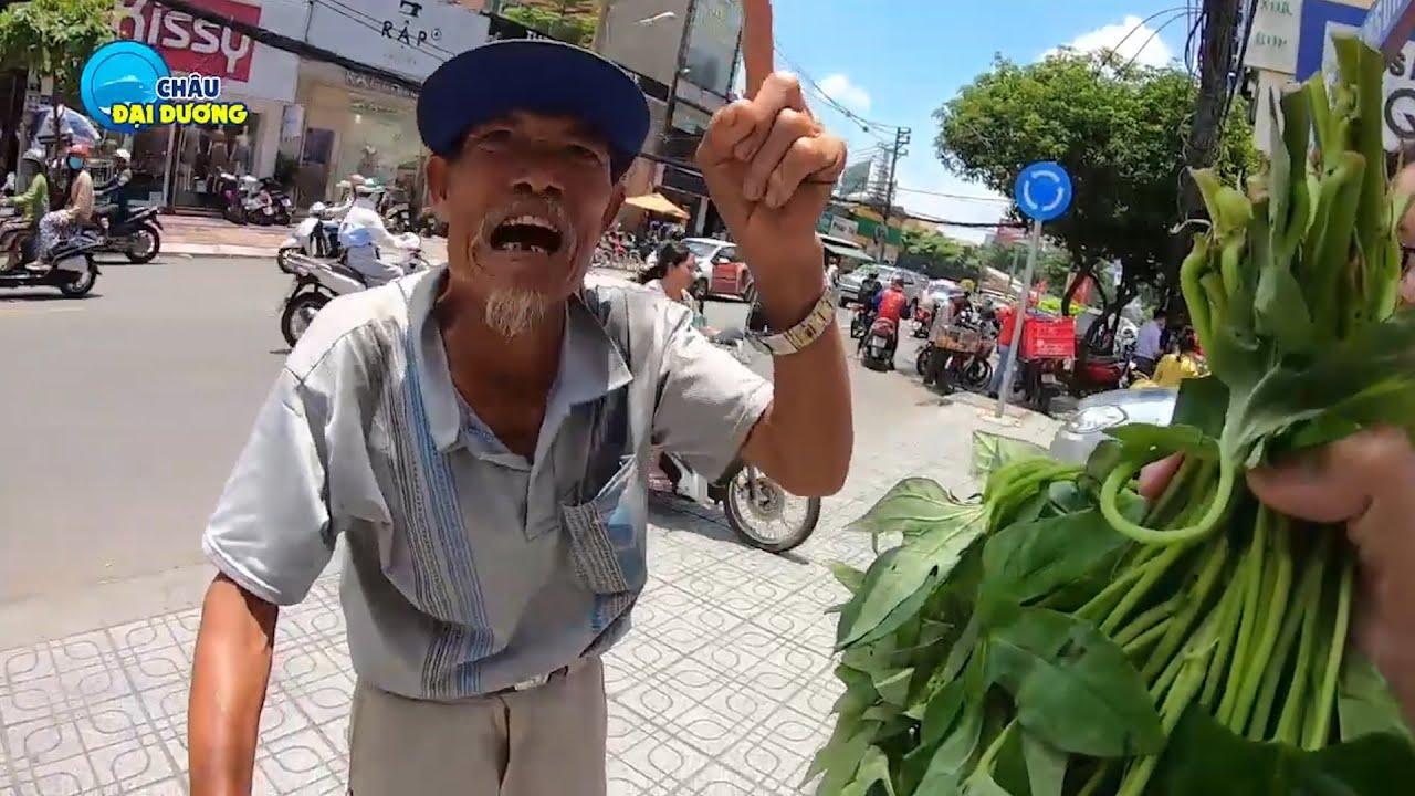 ĐÃ RÕ cụ ông chống gậy BÁN RAU khắp SG: Nhà khá giả, thích mưu sinh kiếm tiền !