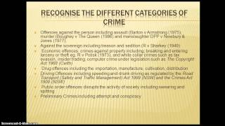 legal studies notes on crime Legal studies hsc notes part 1: crime the nature of crime the meaning of crime crime: a punishable act that is seen as a danger.