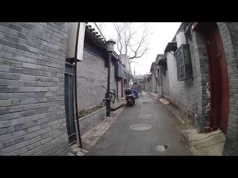 Riding a Bike in the Shichahai Hutong Area of Beijing