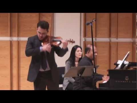 Giora Schmidt - Fauré Violin Sonata No. 1 in A Major