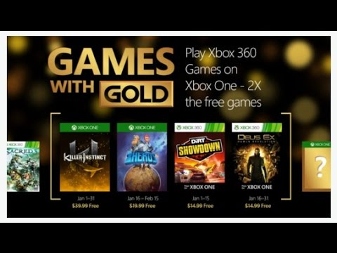 Games With Gold January 2016 Youtube