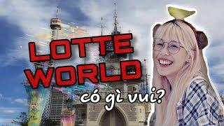 [travel vlog] - LOTTE WORLD ở Hàn Quốc có gì vui? - Hậu Hoàng