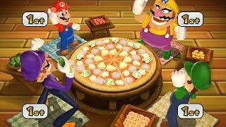 Mario Party 9 Step It Up - Mario vs Wario vs Waluigi vs Luigi Master Difficulty| Cartoons Mee