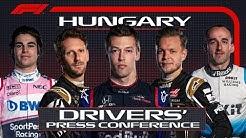 2019 Hungarian Grand Prix: Pre-Race Press Conference