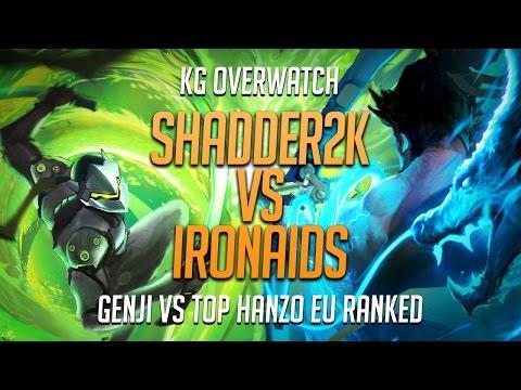 🎲 shadder2k Genji Top Leaderboard vs IronAids The Best Hanzo on EU Ranked - Full Match