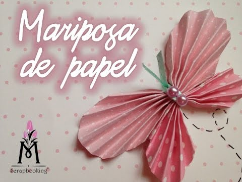 Tutorial c mo hacer una mariposa de papel how to make - Como hacer mariposas de papel ...