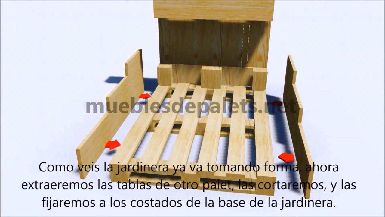 Planos e instrucciones paso a paso para hacer una for Reciclar palets de madera paso a paso