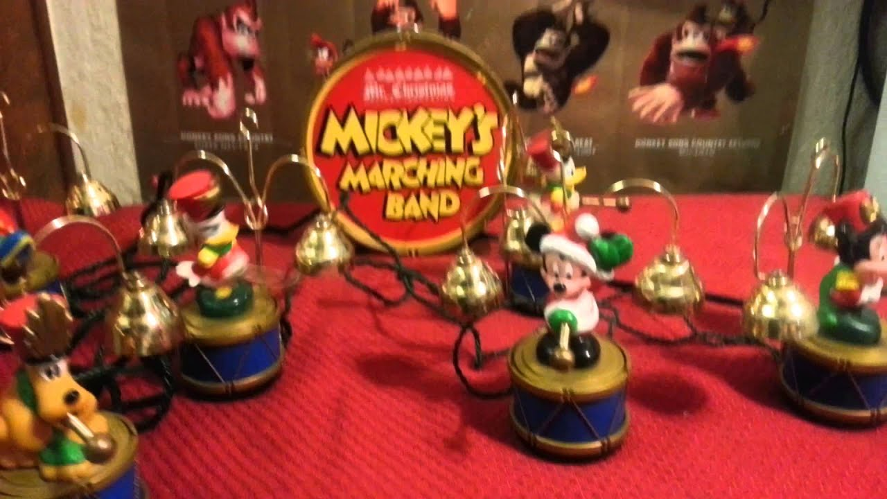 Mr Christmas Mickey's marching Band on Lenyvintage - YouTube