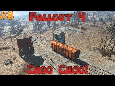 Let's Play Fallout 4 - Train station weirdness! Ep 8