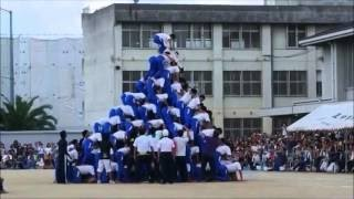 【閲覧注意】中学の体育祭のピラミッドで大事故発生!!!落下し