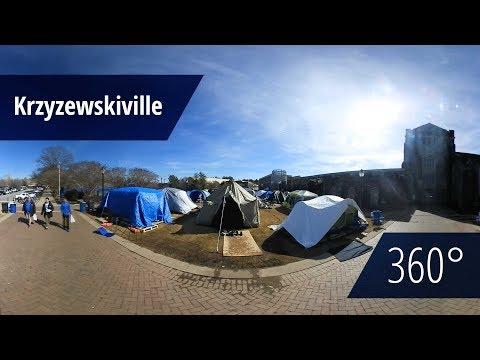 A Peek into Krzyzewskiville [360° video]