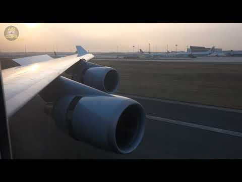 LOVELY Lufthansa B747-400 Early Morning Landing In Frankfurt From Toronto! [AirClips]