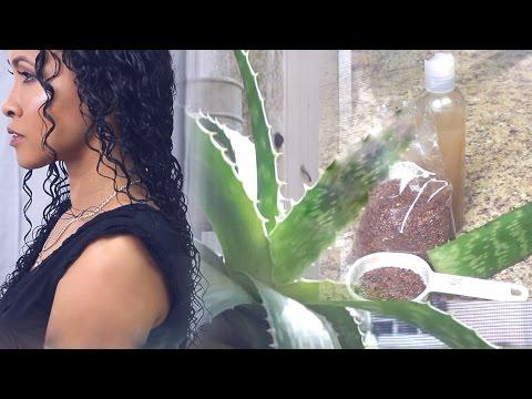 Gel de linaza con Sabila/ Aloe vera para crecer el cabello y definir