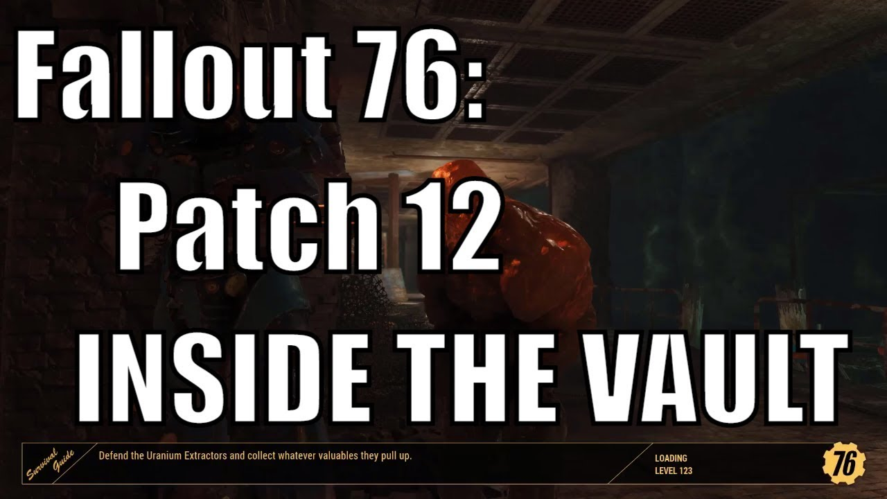 Fallout 76: Patch 12 INSIDE THE VAULT - PUT YOUR GEAR ON DISPLAY