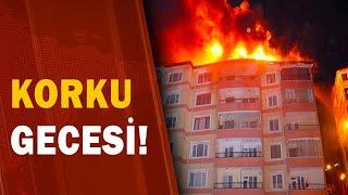 Yozgat'ta Korkutan Yangın! Alevler Binadan Binaya Sıçradı Vatandaşlar Sinir Krizi Geçirdi! / A Haber