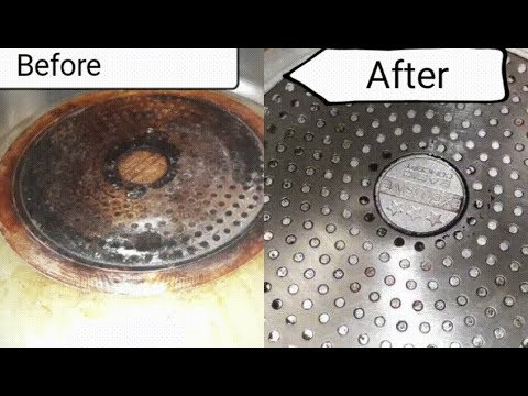 Easiest way to clean  bottom of a  pot or pan