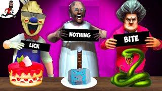 🔥Granny challenge (lick, bite or nothing) 🔥 Funny horror Animation Granny 🔥 Horror Cartoon