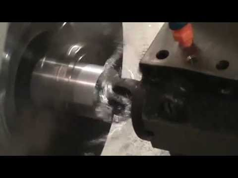 Port tool running in a horizontal lathe