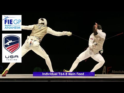 FIE  Grand Prix Anaheim USA Main Pistes Commentary Feed T64-T08