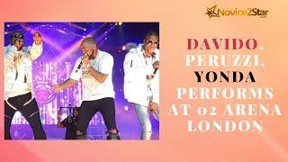 Davido, Peruzzi, Yonda Performs at 02 Arena London