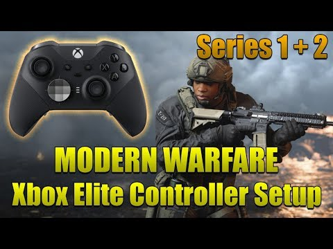 Modern Warfare Xbox Elite Controller Setup SERIES 2 + Series 1 Best Settings!
