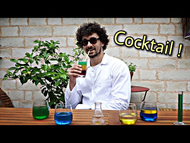 🍹 Cocktail multicolore : liquides miscibles ou non ?