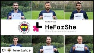 #Fenerbahçe cinsiyet eşitliği için sahaya çıkıyor #BirilikteEşitiz #HeForShe