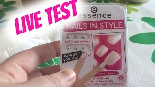 Essence Nails in Style | Live Test