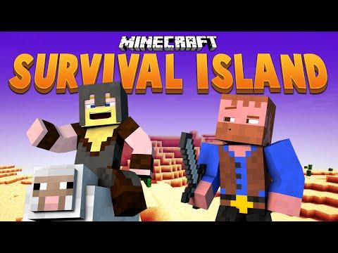 THE WIZARD'S TOWER BEGINS ★ Minecraft Survival Island (23)