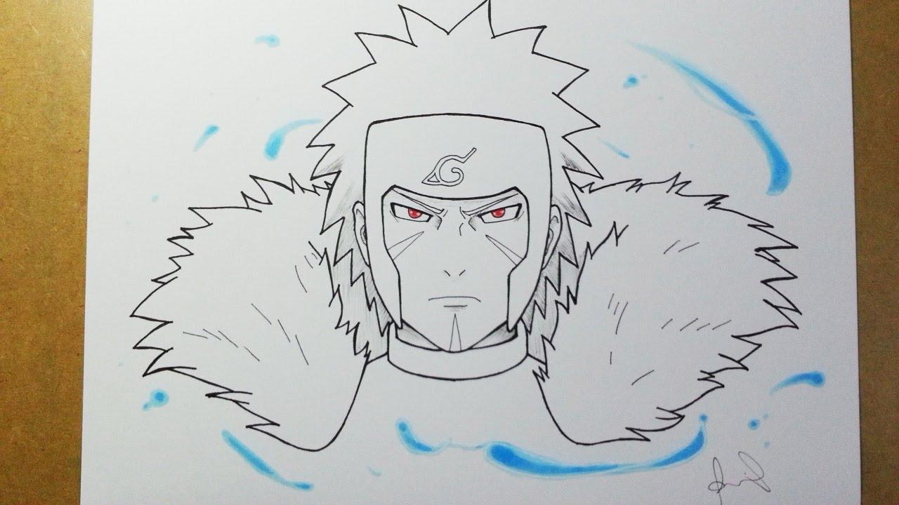 Speed Drawing Senju Tobirama -  2 Inktober 2016